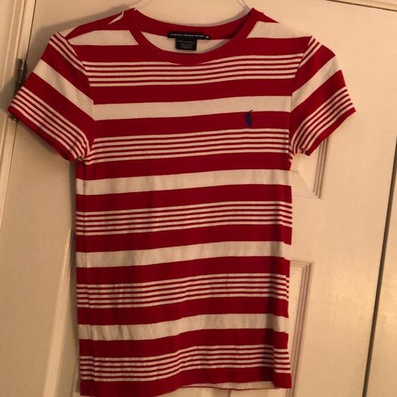 40c103bfdb2315 Ralph Lauren Sport Striped Knit Top Sz M. M_5c4509600cb5aa4162ec7c02